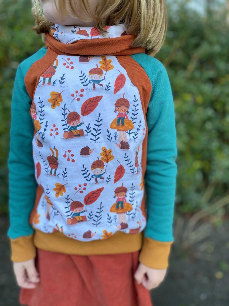 Raglan trui met colorblock (104)